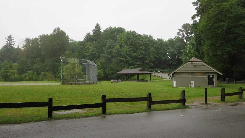 Lower ball diamond and group picnic shelter