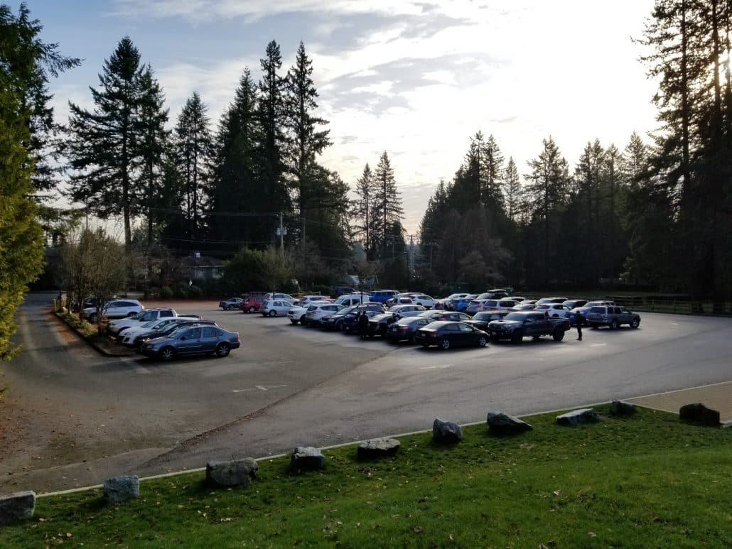 Capilano Regional Park, North Vancouver, BC - Cleveland Dam Parking Lot