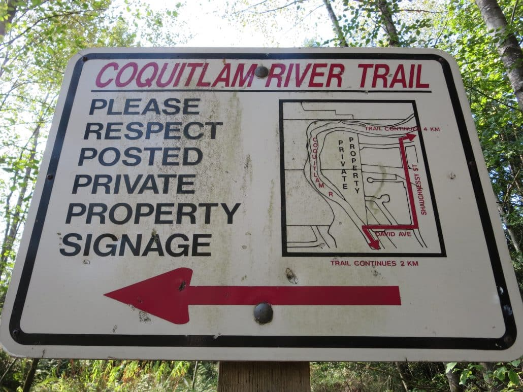 Coquitlam River Trail to Crystal Falls, Coquitlam, BC - Trail Map