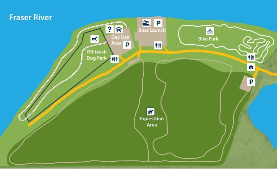 Island 22 Regional Off-Leash Dog Park Map - Chilliwack - BC