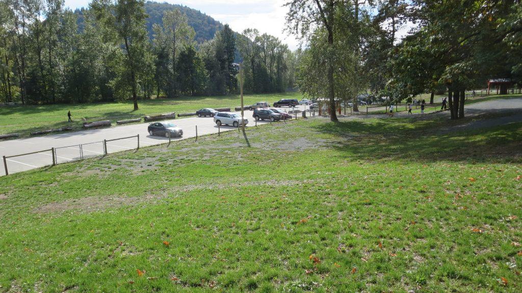 Vedder Park Dog Off-Leash Area, Chilliwack, BC - Parking Lot