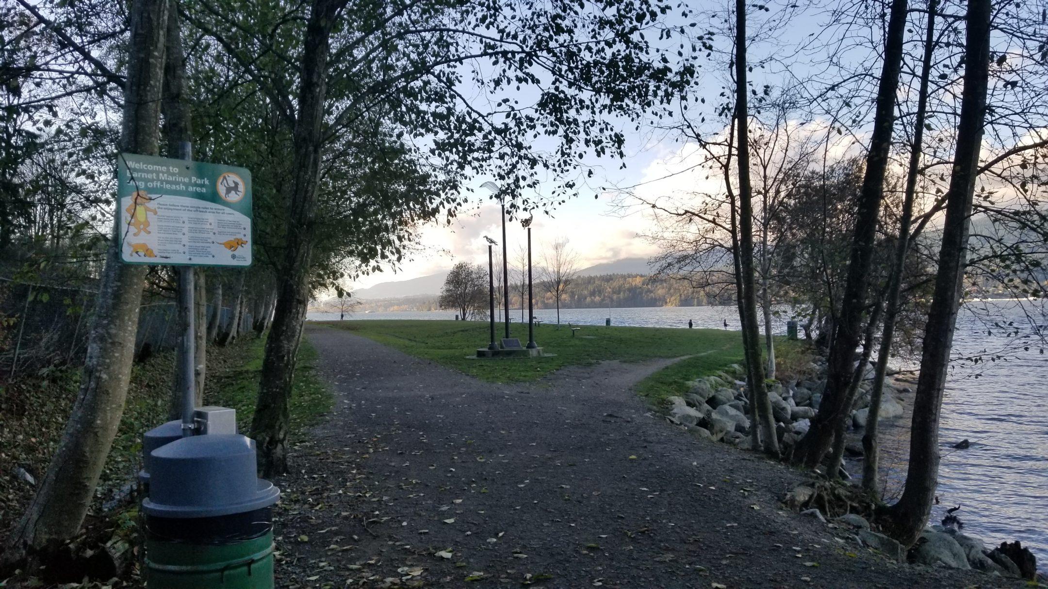 Barnet Marine Park Off-Leash Dog Park, Burnaby, BC