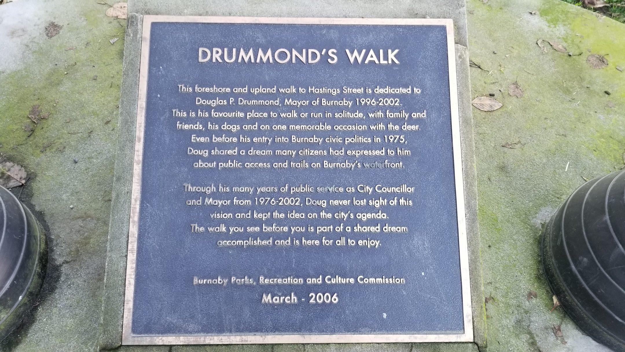 Drummond's Walk Plaque