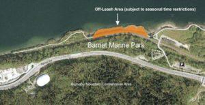 Barnet Marine Park Off-Leash Dog Park Map - Thumbnail