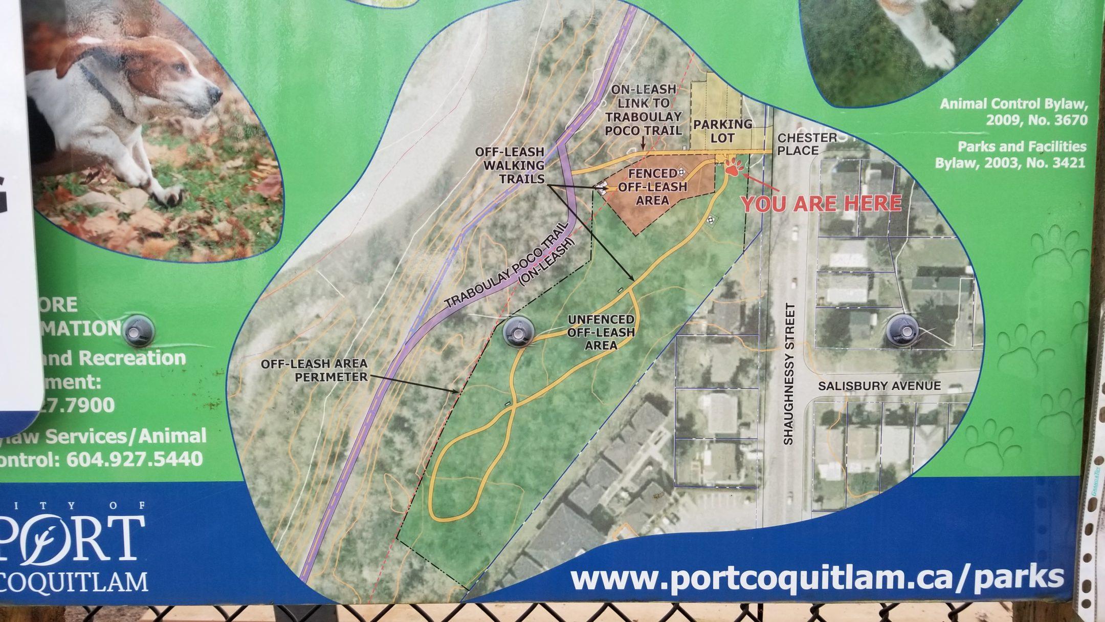 Shaughnessy Park Off-Leash Dog Park - Port Coquitlam - BC (12) - Park Map