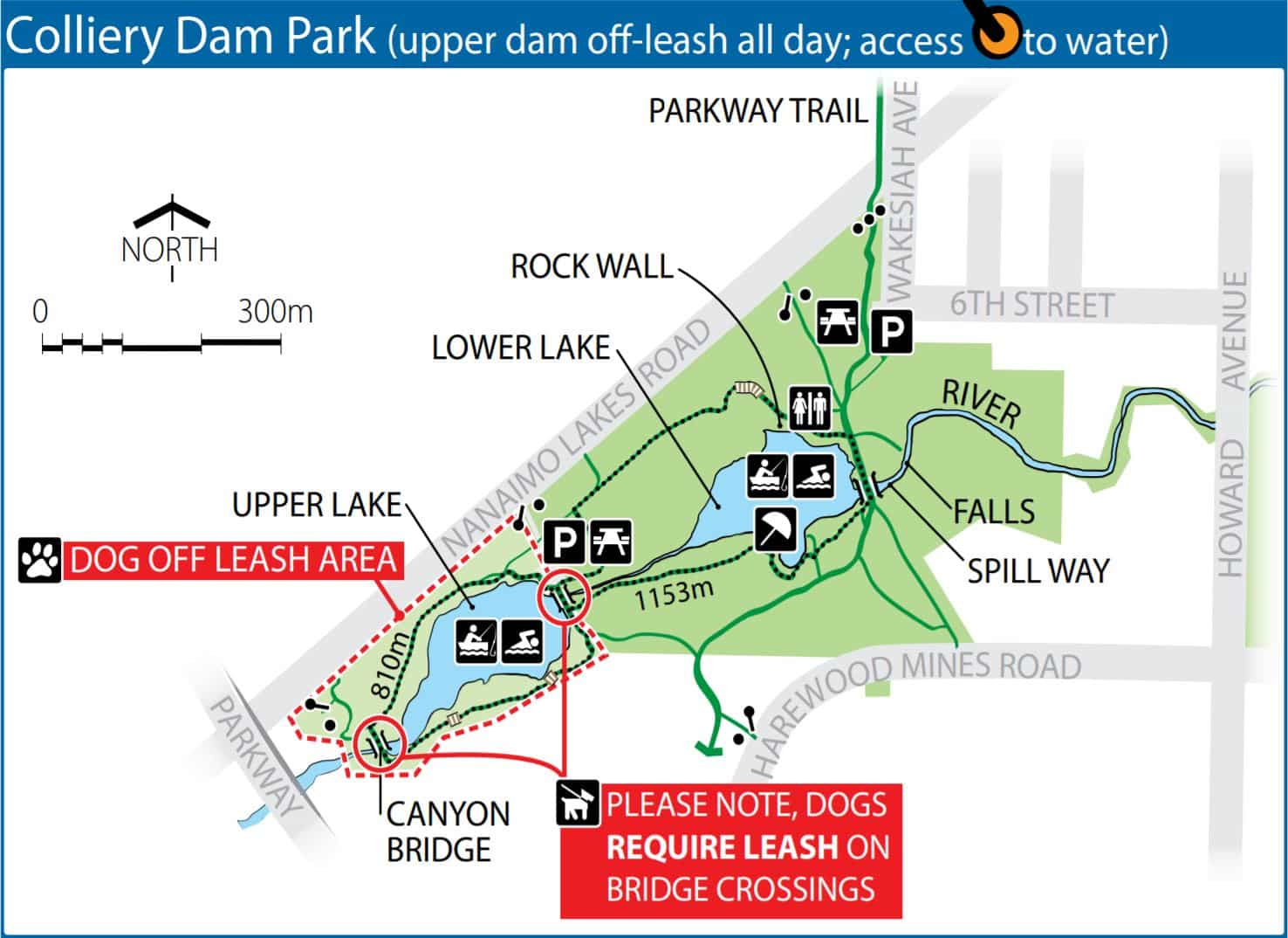 Colliery Dam Park Off-Leash Dog Park Map – Nanaimo – BC