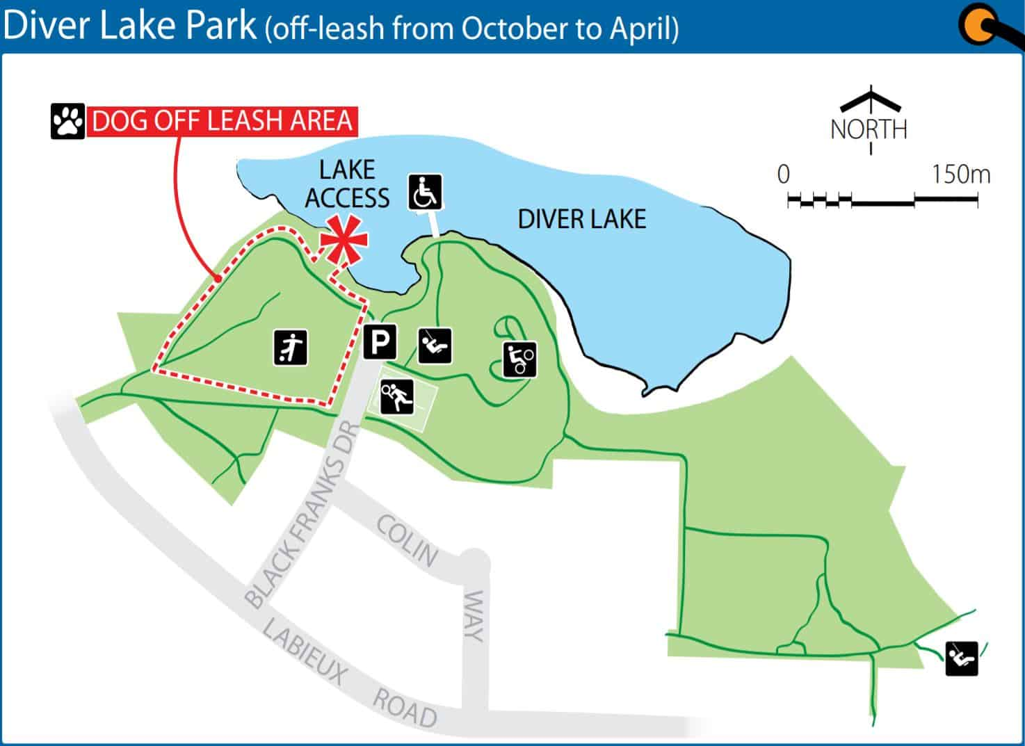 Diver Lake Park Off-Leash Dog Park Map – Nanaimo – BC