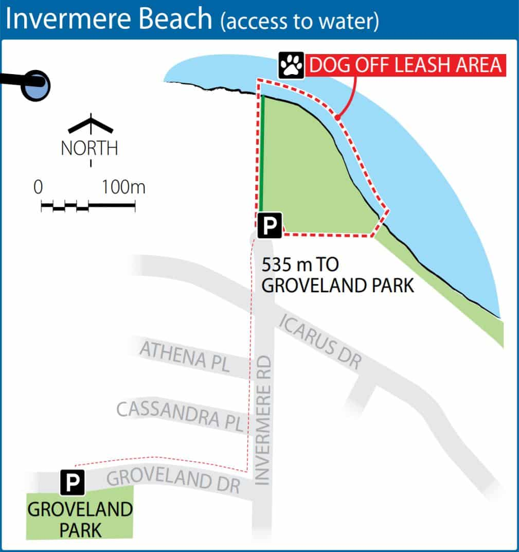 Invermere Beach Off-Leash Dog Park Map – Nanaimo – BC