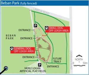 Park Map_Beban Park Off-Leash Dog Park_Nanaimo, BC