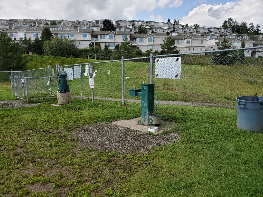 Gated Entry and Water Fountain - Aberdeen Hills Off-Leash Dog Park - Kamloops - BC (2)