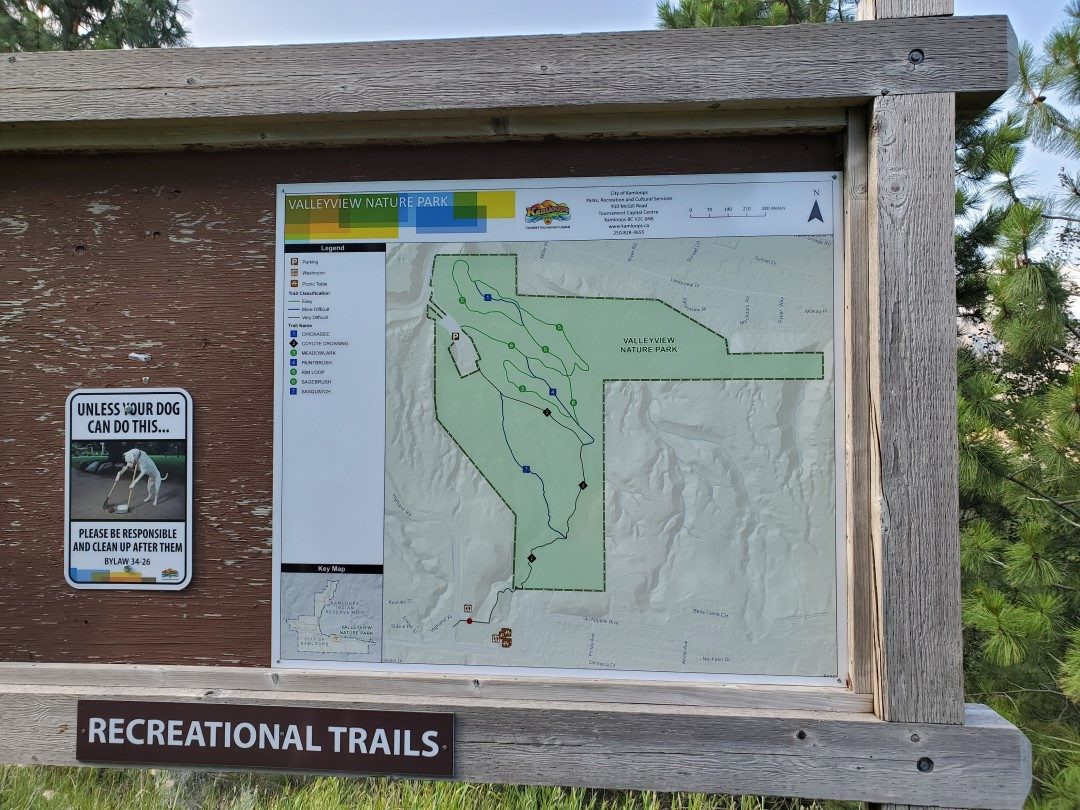 Trail Map of Valleyview Park Off-Leash Trails - Juniper Off-Leash Dog Park - Kamloops - BC (6)