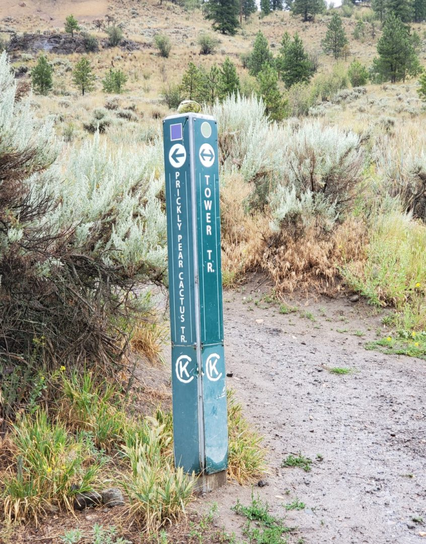Tower Trail and Prickly Pair Cactus Trail Marker - Kenna Cartwright Nature Park Off-Leash Dog Park - Hillside Drive Trailhead - Kamloops -BC (5)