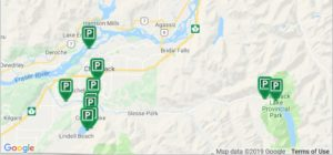 Chilliwack and Cultus Lake Off-Leash Dog Parks Map
