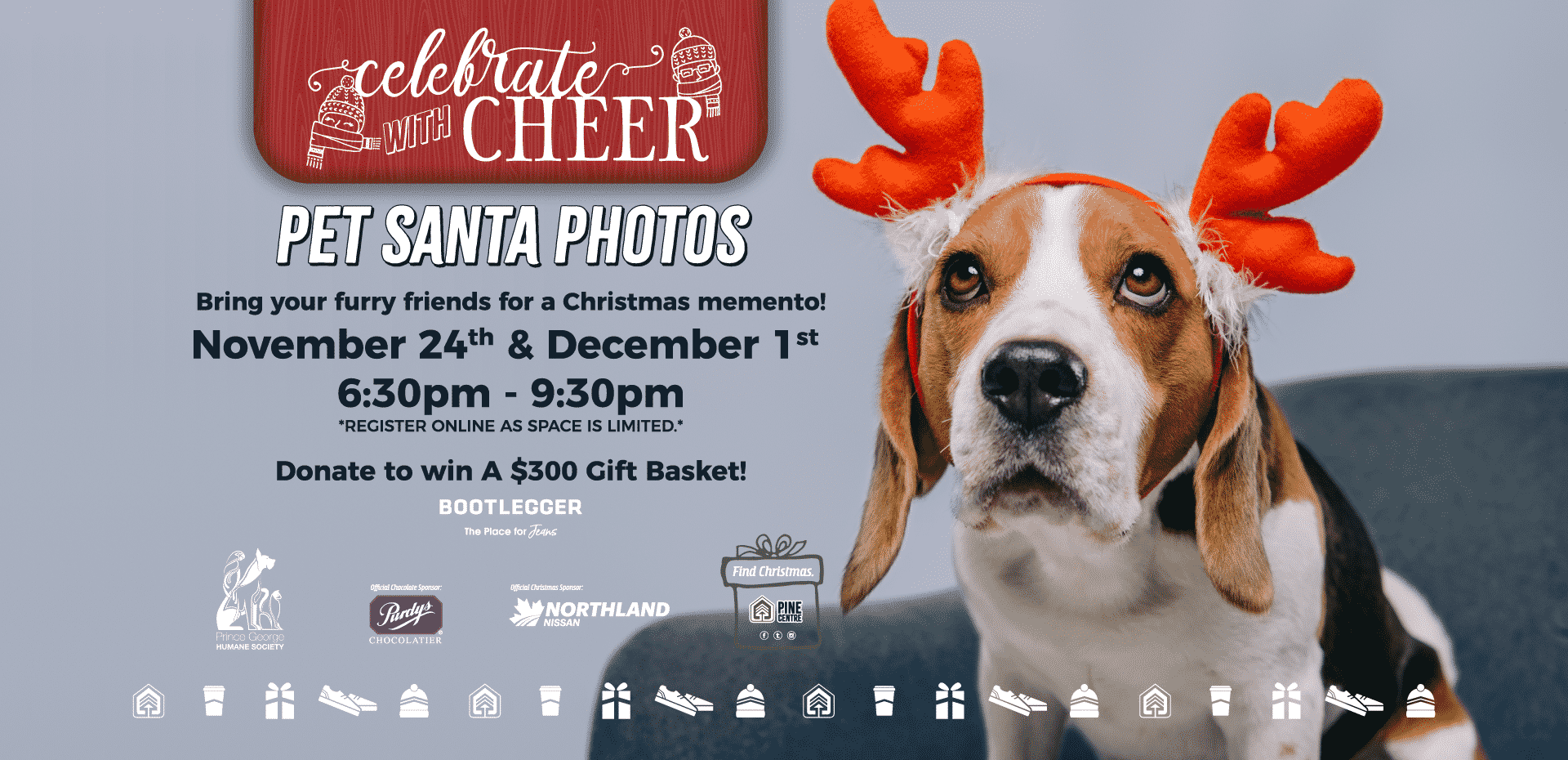 Pine Centre Mall – Prince George – BC – Santa Photos with your Dog 2019
